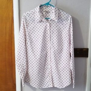 Button down shirt with polka dots